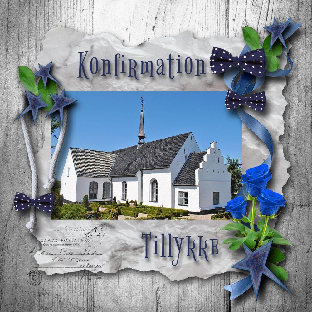 konfirmationskort Egen Kirke